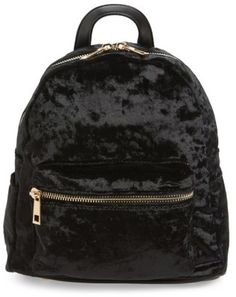 Shop Now - >  https://api.shopstyle.com/action/apiVisitRetailer?id=656261759&pid=uid6996-25233114-59 Bp. Mini Velvet Backpack - Black  ...