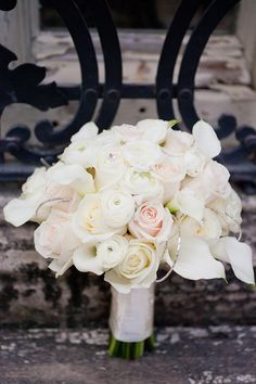 Wedding Bouquet = White + A Touch of the Bling! Photography by capturedbyjen.com