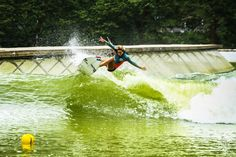 French surfer Justine Dupont tackles the WaveGarden technology in Spain. Photo by Billabong Europe