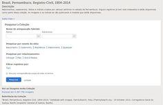 """""""Brasil, Pernambuco, Registro Civil, 1804-2014""""— O FamilySearch acaba de disponibilizar online em seu site esta coleção já indexada que compreende cerca de 1.242.782 registros pesquisáveis, de um total de 5.387.756 imagens navegáveis. Confira e faça suas pesquisas através do link abaixo.  https://familysearch.org/search/collection/2016195  #familysearch #EncontreLeveEnsine"""