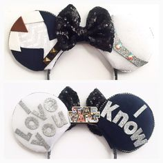Star Wars Disney Inspired Ears Star Wars by ToNeverNeverland Disney Minnie Mouse Ears, Diy Disney Ears, Disney Bows, Disney Diy, Disney Crafts, Cute Disney, Disney Outfits, Disney Clothes, Disney Ideas