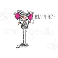 Stamping Bella -Oddball Girl Mummy cannot be any cuter than this! She is adorable! Halloween Drawings, Halloween Projects, Halloween Cards, Halloween Decorations, Halloween 6, Quirky Girl, Junk Art, Cricut Cards, Simon Says Stamp