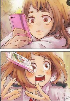 Ochaco Uraraka - My Hero Academia \ ^^ / My Hero Academia Shouto, My Hero Academia Episodes, Hero Academia Characters, Touko Pokemon, Deku X Uraraka, Happy Tree Friends, Fanarts Anime, Cute Anime Couples, Held