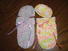 Preemie cuddle sacks**