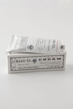 Great packaging and smells delicious!  Barr-Co. Hand Cream - Anthropologie.com