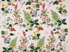 Trollslända, natural - Gocken Jobs design - Hand printed textile & interior decoration @ Jobs handtryck