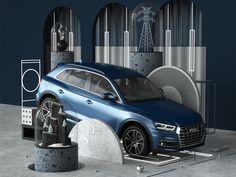 AUDI: Q-riosity designed by Peter Tarka. Revell Model Cars, Car Expo, Audi Q, Car Guide, Real Estate Branding, Showroom Design, Car Posters, Car Photography, Creative Industries