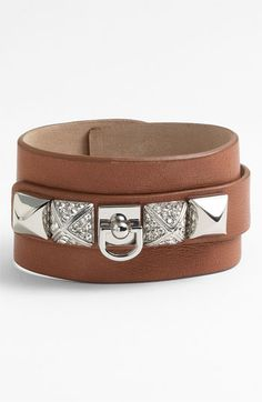 Juicy Couture 'Punk Royals' Wide Leather Cuff available at #Nordstrom