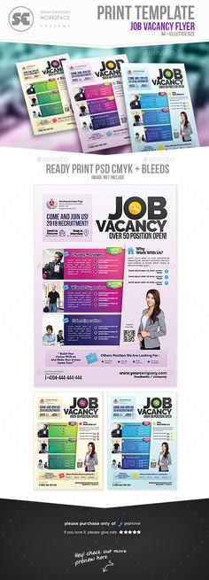 Job Vacancy Flyer Photoshop Brochures And Hiring Poster