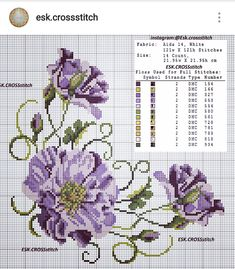 Cross stitch - flowers: Lily of the valley (free pattern - chart) Just Cross Stitch, Cross Stitch Heart, Cross Stitch Cards, Cross Stitch Borders, Cross Stitch Flowers, Cross Stitch Kits, Cross Stitch Designs, Cross Stitching, Cross Stitch Embroidery