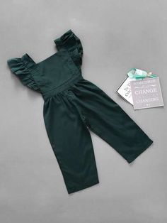 To find out about the Toddler Girls Frill Trim Solid Jumpsuit at SHEIN, part of . To find out about the Toddler Girls Frill Trim Solid Jumpsuit at SHEIN, part of our latest Toddler Girl Jumpsuits ready to shop online today! Dresses Kids Girl, Little Girl Outfits, Kids Outfits Girls, Little Girl Fashion, Toddler Girl Outfits, Toddler Fashion, Fashion Kids, Toddler Girl Clothing, Infant Clothing