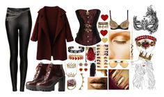 """Victoriana Queen"" by moony1026 ❤ liked on Polyvore featuring 1928, Seletti, Topshop, Charlotte Russe, ASOS, Linda Farrow, Lord & Taylor, Erica Courtney, Juicy Couture and Masquerade"