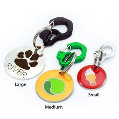 Rubit Dog ID Tag Attaching Clip - Like a little carabiner for your dog's collar. Can also use it for keys! $7 at www.dogids.com