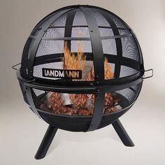 Ball Of Fire39 Fire Pit Contemporary Fire Pits Cost Plus Enclosed Fire Pit
