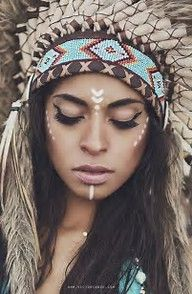 Image result for american indian makeup looks
