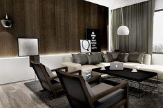 LODZ // MARINA // FLAT // 68M2 | KUOO Architects Living Room Lounge, Living Room Interior, Living Spaces, Living Rooms, Classic Interior, Modern Interior Design, Living Room Designs, Decor Styles, Interior Decorating