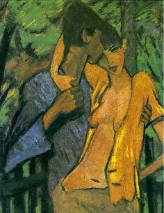 Otto Mueller, Pair of Lovers, 1919 on ArtStack #otto-mueller #art