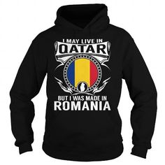 I Love Live in Qatar - But Made in Romania T shirt