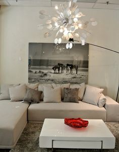 Modern Chandelier and Sectional