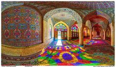 Mosquée Rose Nasir-ol-Molk Iran paysage moyen orient