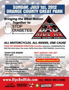 SoHo Taco is doing our part in the fight against diabetes!    Join us tomorrow (Sunday) 10A to 3P at OC Great Park (6990 Marine Way Irvine, CA) as we team up with some of the best gourmet food trucks of Food Smackdown and the American Diabetes Association for the annual Rip's B.A.D. Ride!    More info: http://www.sohotaco.com/ai1ec_event/american-diabetes-associations-15th-annual-rips-b-a-d-ride-oc-great-park-irvine-ca/?instance_id=1383