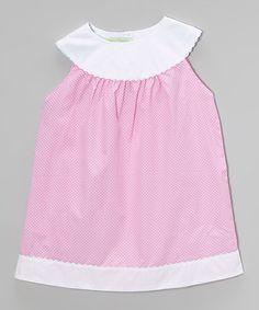 Pink Polka Dot Yoke Dress - Infant, Toddler & Girls #zulily #zulilyfinds