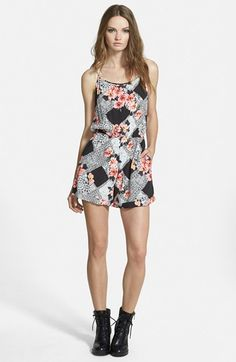 MINKPINK+'Lacey+Gardener'+Print+Sleeveless+Romper+available+at+#Nordstrom