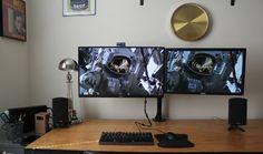 http://awesomedesksetup.com/wall-mounted-desk-setup/