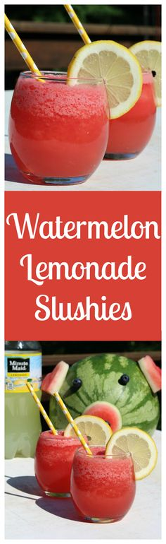 Watermelon Lemonade Slushie – A sweet and refreshing summer treat made with only 3 simple ingredients! Perfect for a party! [ad] #SummerRefreshment #Kroger