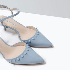 Kitten heel studded shoes from ZARA. Shop more products from ZARA on Wanelo. Zara United States, Zara Women, Designer Shoes, Studs, Kitten Heels, High Heels, Style Inspiration, My Style, Wallpaper