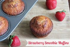 Cooking with Kefir: Strawberry Smoothie Muffin Recipe | SoFabFood
