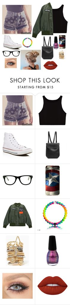 """""""Untitled #68"""" by aiyana-spn on Polyvore featuring Converse, GRETCHEN, Muse, Chicnova Fashion and Lime Crime"""