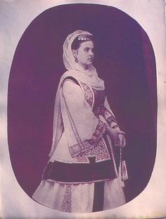 Queen Olga  Athens, Attica. Mid 19th century  © Peloponnesian Folklore Foundation, Nafplion, Greece