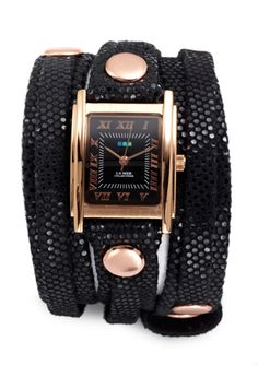 Loving wrap watches right now. -LA MER COLLECTIONS Layered Sparkle Print Triple Wrap