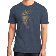 Halftone Buddha Face District T-Shirt (on man)
