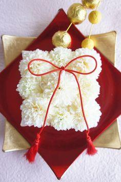 ハンドメイドマーケット minne(ミンネ)| (再々販)ウェディングに♪結婚祝に♪ピンポンマムの和モダンリングピロー