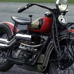 Rare 1936 Unlucky Indian Four With An Upside Down Engine Exhaust Over Inlet This Maximized The Power Of Bike But It Also Weakened Its Reliability