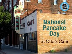 Day 66: It's #NationalPancakeDay pop in to Otto's to grab a delicious stack, located on Broadway St, downtown Pittsburg. #CrawfordCounty365