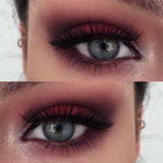 "Sophia  on Instagram: ""Today's eye look ✨ Using #makeupgeekcosmetics Bitten, Burlesque, Corrupt and Shimma Shimma, @sugarpill Love+ and Lumi, @benefitaustralia They're Real Mascara in Beyond Blue and @socialeyeslash Ravishing lashes ✨"""