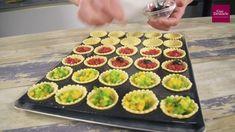 Mini tartelettes apéritif Guy Demarle - YouTube Moule Mini Tartelette, Cake Factory, Cooking Classes, Tupperware, Tapas, Sushi, Buffet, Lunch Box, Brunch