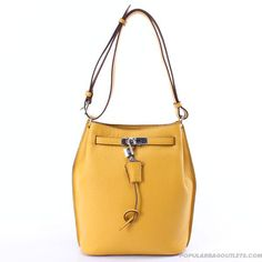 Hermes-Bucket-Bag-Yellow