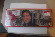 Vintage UNOPENED Russell Stover Elvis Presley Chocolate Christmas Tin Graceland