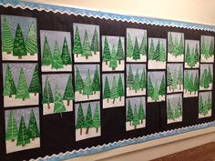 ARTventurous: Evergreen Trees - Anna Valova ARTventurous: Evergreen Trees Source You are in the righ Christmas Art Projects, Christmas Arts And Crafts, Winter Art Projects, Christmas Art For Kids, Classroom Art Projects, School Art Projects, Art Classroom, Kindergarten Art, Preschool Art