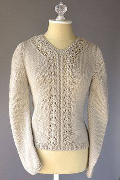 Interlacement Sweater Pattern  free knit pattern