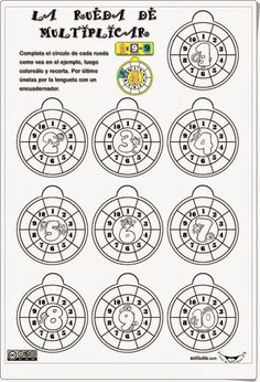 """""""La rueda de multiplicar"""", de actiludis.com, es un ingenioso material para…"""