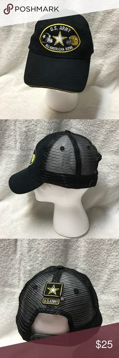 e3b86b8f US Army All American Bowl Mesh Snapback Hat Excellent condition. Smoke free  home. Don