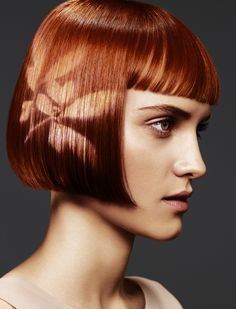 How do you like Hair Stenciling? Professional Hair Color, Professional Hairstyles, Hair Styles 2014, Short Hair Styles, Hair Stenciling, Aveda Hair Color, Color Del Pelo, Make Up Inspiration, Dark Hair With Highlights