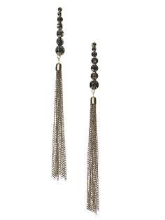 Graduated Beaded Fringe Earrings Jewelry