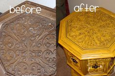 End Table Makeover {in yellow}