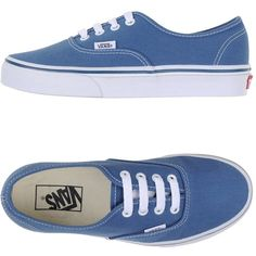 Vans Low-tops & Trainers (€53) ❤ liked on Polyvore featuring shoes, sneakers, vans, pastel blue, vans shoes, vans trainers, vans footwear, round toe shoes and pastel blue shoes